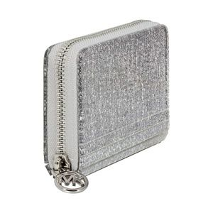 NEW Michael Kors Coin Card Case Silver P08